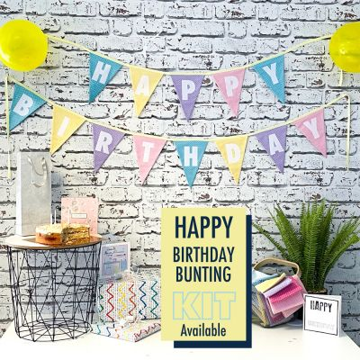 Happy Birthday Bunting Kit - Pastel