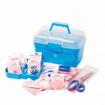 Hemline Deluxe Sewing Kit With Storage Carry Case