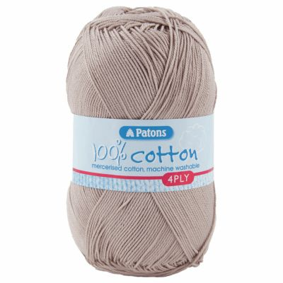 Patons Yarn - 100% Cotton 4 Ply 100g Ball - Raffia