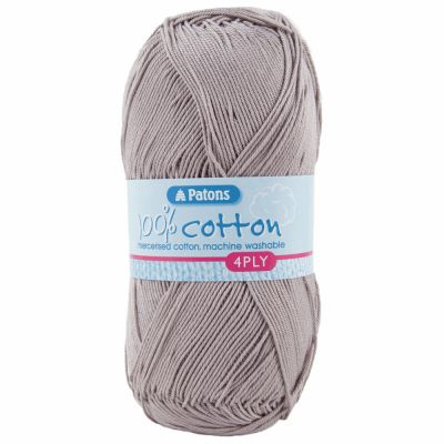 Patons Yarn - 100% Cotton 4 Ply 100g Ball - Taupe