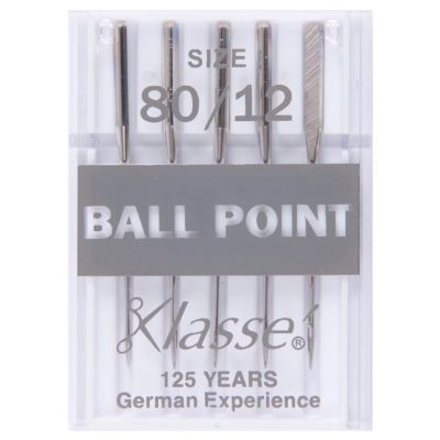 Klasse Machine Needles Ball Point - Size 80/12