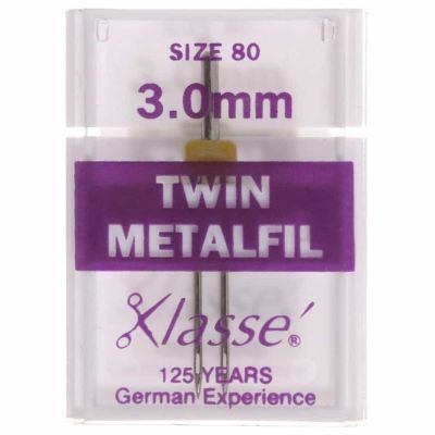 Klasse Machine Needles Twin Embroidery / Metalfil 80/3mm