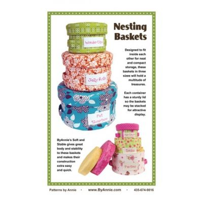 ByAnnie Sewing Pattern -  Nesting Baskets Pattern