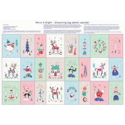 Dashwood Studio - Merry And Bright - Drawstring Bag Advent Calendar with Metallic - 75cm Panel