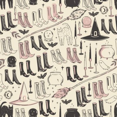Art Gallery Fabrics - Spooky N Sweet - Witches Wardrobe