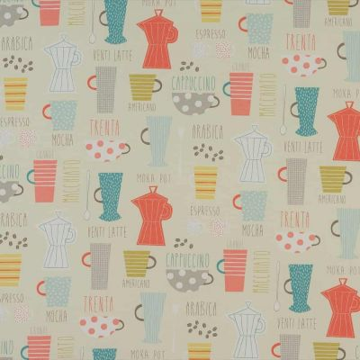 Americano - Multi - Curtain Fabric