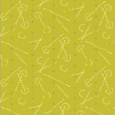 Andover Seventy Six Traced Arrows Yellow Cut Length