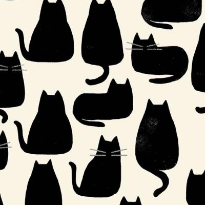 Andover Home Whiskers Chat Noir Cut Length