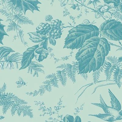 Andover Royal Blue Evergreen Sky Cut Length