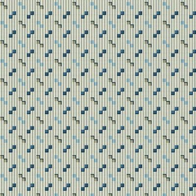 Andover Royal Blue Square Dance Greige Cut Length