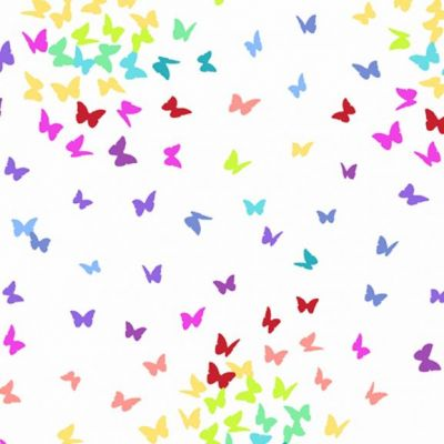 Andover - Rainbow Sprinkles - Butterflies White