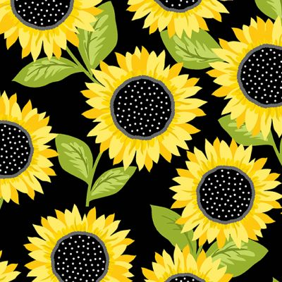 Andover - Sunny Bee - Sunflowers Black