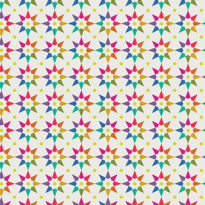 Andover - Art Theory - Rainbow Star Linen