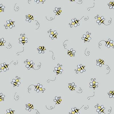 Andover - Bumble Bee - Light Grey
