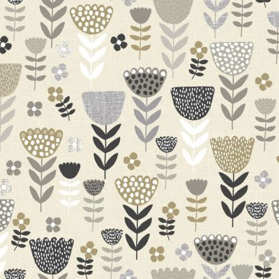 Annika - Natural - Curtain Fabric