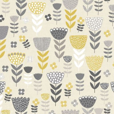 Annika - Ochre - Curtain Fabric