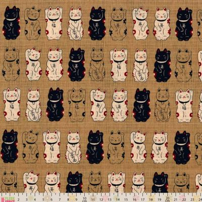 Cosmo - Maneki Neko Beige Oxford Cloth