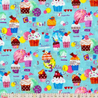 Cosmo - Cupcake Time Blue Oxford Cloth
