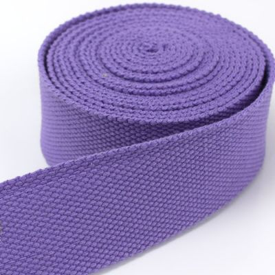 Strong Thick Woven Canvas Webbing  - Purple -  25mm Wide