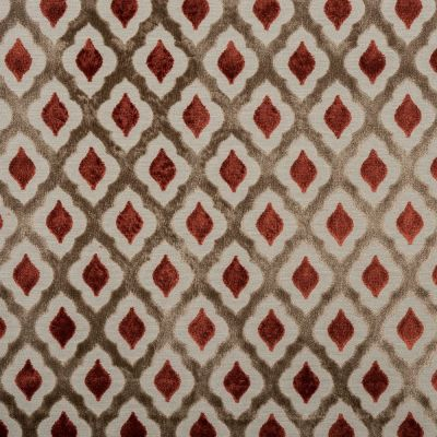 Porter & Stone - Assisi - Burnt Orange - Curtain Fabric