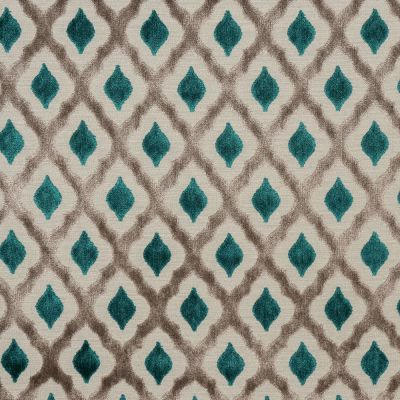 Porter & Stone - Assisi - Teal - Curtain Fabric