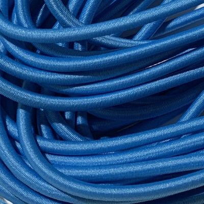 Round Elastic Cord - 3mm Wide - Azure