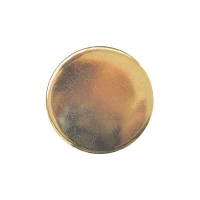 Round Metal Blazer Buttons With Shank - Gold - 15mm / 24L