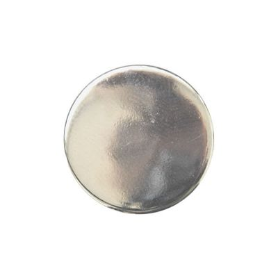 Round Metal Blazer Buttons With Shank - Silver - 15mm / 24L