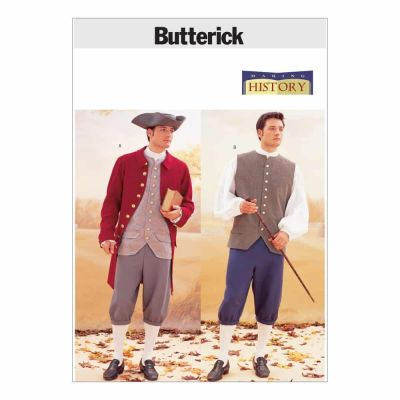 Butterick Sewing Pattern B3072 Historical Costume (Coat, Vest, Shirt, Pants and Hat)