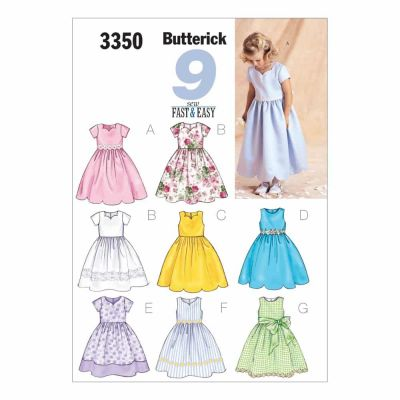 Butterick Sewing Pattern B3350 Children's/Girls' Dress