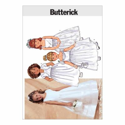 Remnant -Butterick Sewing Pattern B3351 size - 2.3.4.5 - Children's/Girls' Jacket & Dress - End of line
