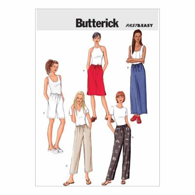 Butterick Sewing Pattern B3460 Misses'/Misses' Petite Skirt, Shorts & Pants
