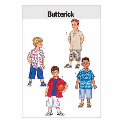 Butterick Sewing Pattern B3475 Boys' Shirt & Shorts