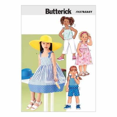 Butterick Sewing Pattern B3477 Children's Dress, Top, Short & Pants