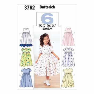 Butterick Sewing Pattern B3762 Children's & Girls' Dress