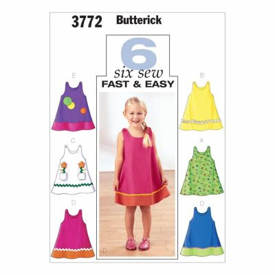 Butterick Sewing Pattern B3772 Toddlers' & Children's Dress