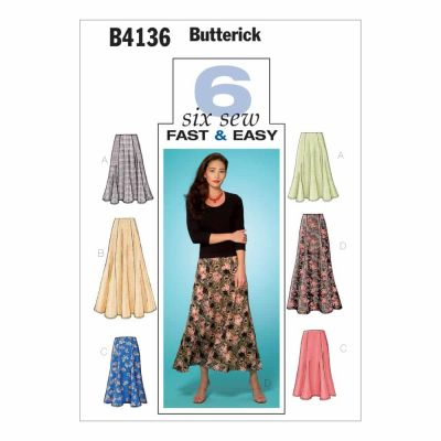 Butterick Sewing Pattern B4136 Misses'/Misses' Petite Skirt