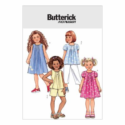 Butterick Sewing Pattern B4176 Children's/Girls' Top, Dress, Shorts and Pants