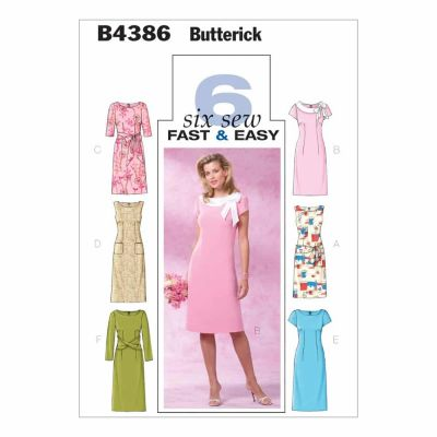 Butterick Sewing Pattern B4386 Misses'/Misses' Petite Dress