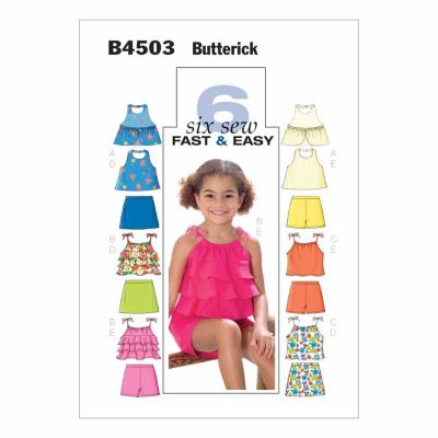 Butterick Sewing Pattern B4503 Children's/Girls' Top, Skort and Shorts