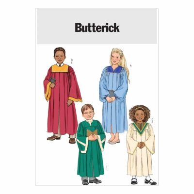 Butterick Sewing Pattern B4542 Children's/Boys'/Girls' Robe and Collar