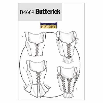 Butterick Sewing Pattern B4669 Misses' Corset