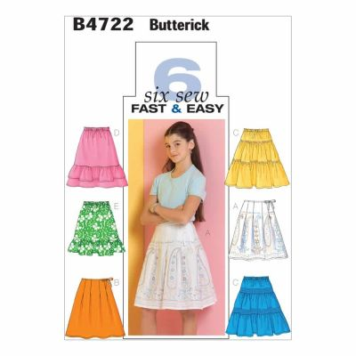 Butterick Sewing Pattern B4722 Girls' Skirt