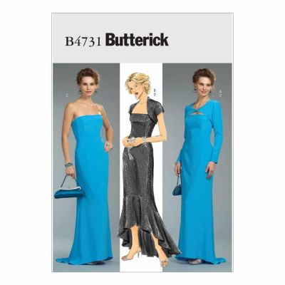 Butterick Sewing Pattern B4731 Misses'/Misses' Petite Shrug and Dress