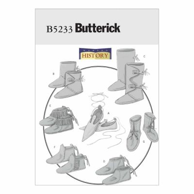 Butterick Sewing Pattern B5233 Historical Footwear