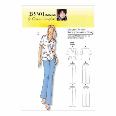 Butterick Sewing Pattern B5301 Misses'/Women's Top and Pants