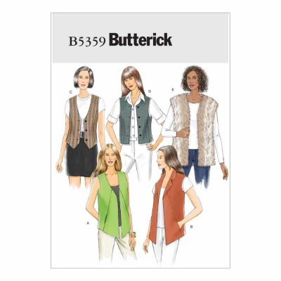 Butterick Sewing Pattern B5359 Misses' Vest