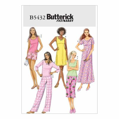 Butterick Sewing Pattern B5432 Misses'/Misses' Petite Top, Gown, Shorts and Pants