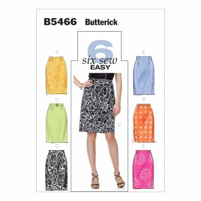 Butterick Sewing Pattern B5466 Misses' Skirt and Belt