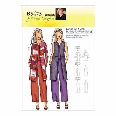 Butterick Sewing Pattern B5473 Misses'/Women's Jacket, Vest and Pants
